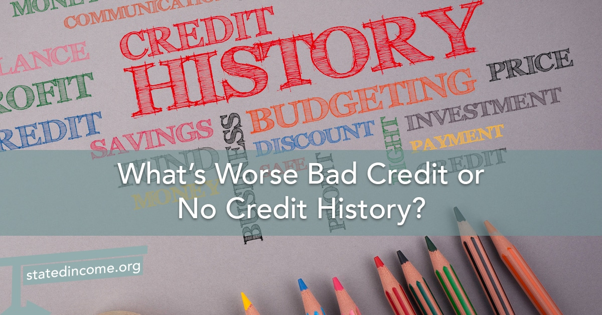 What's Worse Bad Credit or No Credit History?